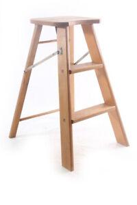 Alter Chair Old Vintage Step Ladder Seat Designer Chair Wood Stool