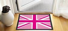 61cm x 40.6cm rose Union Jack Design Porte d'entrée Tapis anti-dérapant