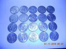 US Coins 20 1967-69 40% Silver Kennedy Half Dollars $10 Face JFK Vintage