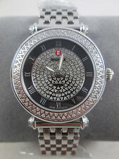 NEW Michele Pave Caber Silver Diamond Ladies Watch MW16A01A2965 Bracelet + Box