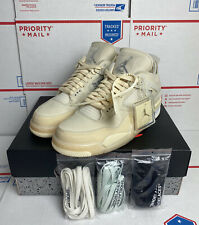 Nike X Off-White WMNS Air Jordan Retro 4 SP Sail Size 10.5 (9 Men's) CV9388-100