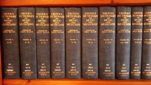 1964 10 vol Grove's Dictionary of Music & Musicians, Illustrated. ed. Eric Blom