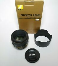 Nikon AF-S 58mm F/1.4 G Lens - Excellent Condition - Boxed - RARE UK Used Stock