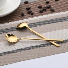Stainless Steel Coffee Spoon Round Dessert Stir Soup Spoon Tableware Flatware