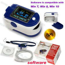 24 hours Recorder,Finger Pulse Oximeter,Blood Oxygen,Spo2+USB+Software,CMS50D+