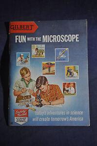 1938 *NEAR MINT* Gilbert Fun with Microscopes Brochure ORIGINAL