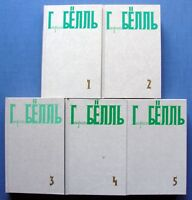 1989-96 Heinrich Böll Collected works in 5 volumes Russian Soviet Set of Books