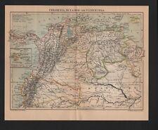 Mapa Map 1903: colombia, ecuador y venezuela. estadísticas.
