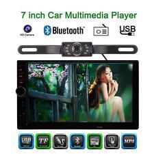 "Universal 2 DIN 7"" HD Car Stereo FM Radio MP5 Player Aux Bluetooth Camera A7S9"
