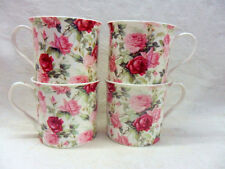 Set of 4 summer rose china palace mugs