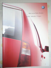 VW Polo Estate range brochure 2001 model year pub Sep 2000