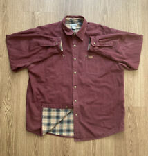 Carhartt Flannel Lined Canvas Shirt Jacket Mens Size XL Maroon Snap