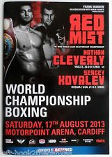 2013 SERGEY KOVALEV v CLEVERLY on-site boxing program 'Krusher' wins WBO Title!