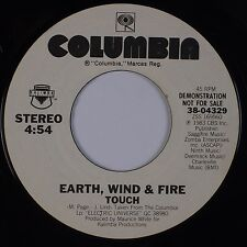 EARTH, WIND & FIRE: Touch USA COLUMBIA Funk Soul DJ PROMO 45 VG+