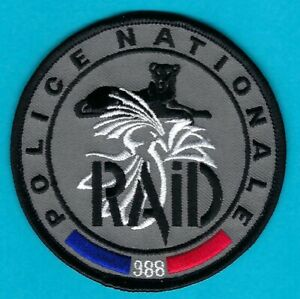 FRANCE NATIONALE POLICE FORCE RAID SWAT TEAM PATCH GRAY