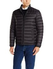 New Mens Tommy Hilfiger Black Down Lightweight Quilted...