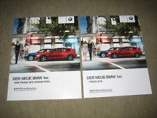 BMW 1er 116i 118i 118d 120d Prospekt Brochure von 2/2011, 76 Seiten + Preisliste
