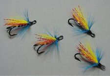 4 Garry Dog - Size 8 Double Hooks - Atlantic Salmon Flies