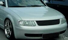 FRONT BLACK GRILL FOR VW PASSAT 3B 96-00 NO EMBLEM SPOILER BODY KIT