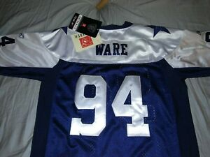 Throwback*Ware #94* Cowboys*Double Stars*THANKSGIVING* Youth/Womans Jersey (XL)