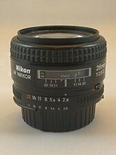 Nikon Nikkor 28mm f2.8 D AF lens wide-angle prime