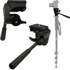 Black Flexible Camera Tilt Pan Tripod Damping Head Quick Release Plate 1/4 Screw
