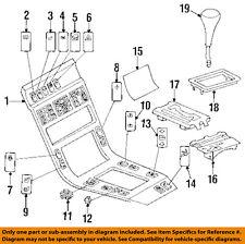 Mercedes MERCEDES-BENZ OEM 1993 600SEC Front Center Console-Gate 1406806939