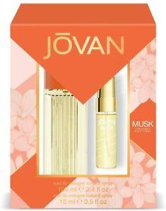 Jovan Musk Pack Femme Eau de Cologne 100 ml + Eau de Cologne 15 ml - NEUF