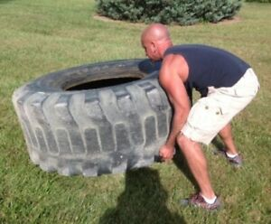 1 Used 21L-24 Workout Tire Cross-fit 250 lbs. FREE Shipping**