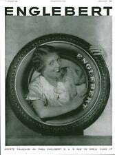 """Publicité Ancienne """" Pneus ENGLEBERT Dreux Paris  1933 ( P36 )"""