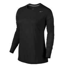 Nike Legend Long-Sleeve Women Size Medium Training Shirt Black 453182 010 New