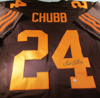 NICK CHUBB / CLEVELAND BROWNS / AUTOGRAPHED CLEVELAND BROWNS CUSTOM JERSEY / COA
