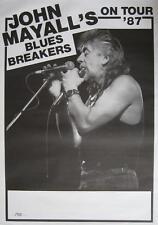 "JOHN MAYALL'S BLUES BREAKERS TOUR POSTER / KONZERTPLAKAT ""ON TOUR 1987"""