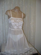 La Perla Charming Flowers Collection XS Babydoll Sheer Ivory Tulle Lace New