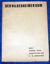 HILDESHEIM-Wilhelm effmann: pour Baugeschichte du Dôme Hildesheimer (1933)