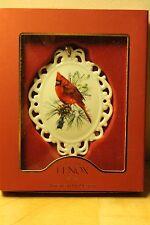 Lenox Winter Greetings Cameo Christmas Ornament Nib &ready for the holiday