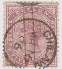 (CEY21) 1886 Ceylon 5c Purple Q Victoria ow195