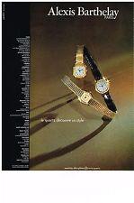 PUBLICITE ADVERTISING   1979   ALEXIS BARTHELAY    montre quartz