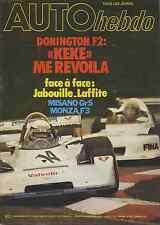 AUTO HEBDO n°120 du 30 Juin 1978 GP SUEDE LAFFITE DONINGTON F2