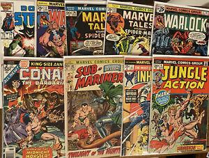 Lot Of 9 Marvel Bronze Comics- Dr Strange, Conan, Inhumans Etc. 🔥 Free Shipping