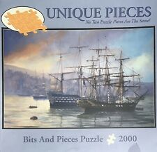 Bits And Pieces Puzzle Complete 2000 pieces Ships In Harbor Sailing NEW