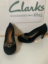 Clarks Smart Black Leather Shoes Size UK 5.5 EU 39 fab