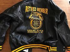 VINTAGE UAW United Auto Workers Local 415 Satin Jacket Coat USA MADE L New!