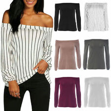 Viscose Long Sleeve Striped Tops & Blouses for Women