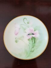 Antique PICKARD China HAND PAINTED Plate White Poppies- signed Marker c1912-1918