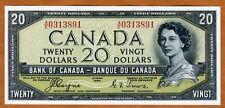 Canada, $20, 1954, P-70a, QEII, UNC > Devil Hair