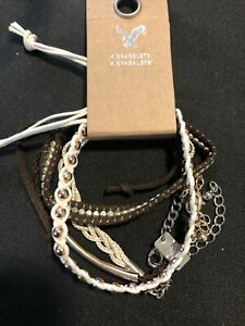 American Eagle 4 Bracelet Pack Woven/Strand Bracelets NEW