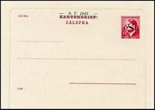 CS352. CZECHOSLOVAKIA LIBERATION LOCALS POSTAL CARD 1945 BILA LHOTA GENUINE RARE