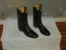 Justin L3703 Womens Black Kipskin Leather Cowboy Western Boots Size 7.5 A Narrow