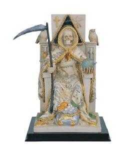 "10"" Money Santa Muerte Statue Holy Death Grim Reaper Santisima Skull Figure"